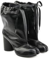 Maison Margiela Drawstring Leather Ankle Boots