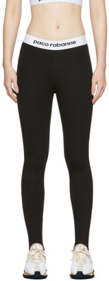 Paco Rabanne Black Bodyline Stirrup Leggings