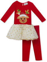 Rare Editions 2-Pc. Reindeer Tunic and Leggings Set, Little Girls (4-6X)