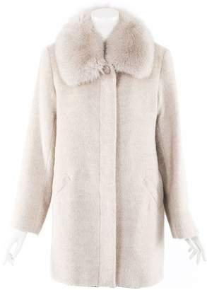 Sofia Cashmere Ecru Cotton Coats