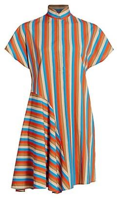 Akris Punto Gazebo Stripe Shirtdress