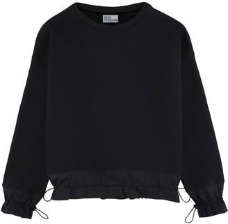 Dear Freedom Black Organic Cotton Sweatshirt With Ruffled Details