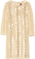 Tory Burch Alicia embellished lace and organza dress