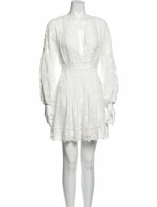 Alexis V-Neck Mini Dress White