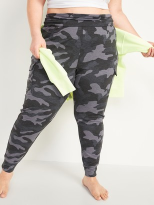 Old Navy Mid-Rise French Terry Plus-Size Live-In Cargo Jogger Pants