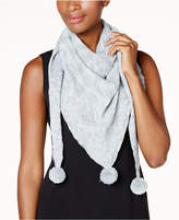 INC International Concepts Metallic Animal-Print Triangle Scarf, Created for Macy's