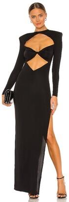 Bronx and Banco Daphne Noir Maxi Dress