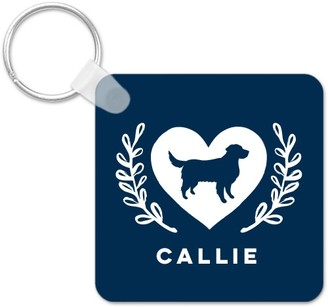 Shutterfly Best In Show Foliage Heart Monogram Key Ring, Square, ,Adult Unisex