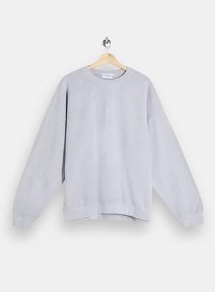 Topman Womens Grey Vertical Tokyo Sweatshirt - Grey