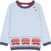 The Little White Company London bus cotton jumper 0-24 months