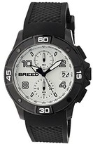 Breed Raylan Chronograph White Dial Black Silicone Men's Watch