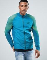 Nike Tech Fleece Varsity Jacket In Green 828476-301