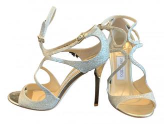 Jimmy Choo Lance Gold Glitter Sandals