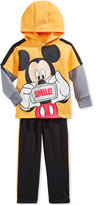 Nannette Baby Boys' 2-Pc. Layered-Look Mickey Mouse Hoodie & Pants Set