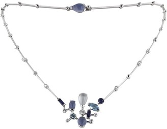 Cartier 2000 white gold articulated Meli Melo coloured stones and diamond necklace