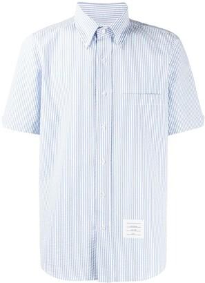 Thom Browne Striped Seersucker Shirt