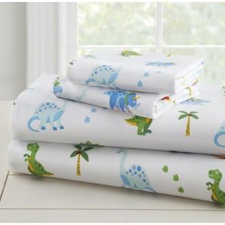 Olive Kids Wildkin Dinosaur Land Super Soft 100% Cotton Sheet Set - Twin