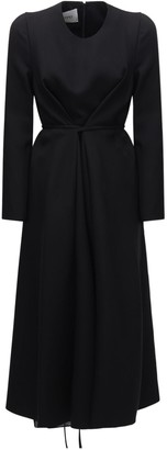 Valentino Wool & Silk Crepe Midi Dress