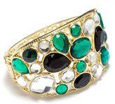 JLO by Jennifer Lopez gold tone simulated crystal bangle bracelet
