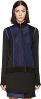 Paco Rabanne Black & Navy Mesh Zip-Up Sweater
