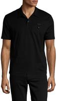 Prada Cotton Solid Polo Shirt