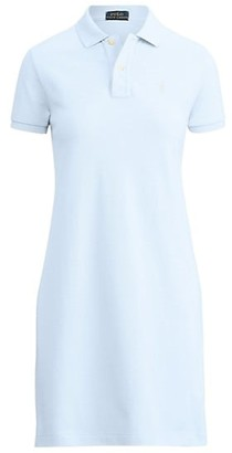 Cotton Mesh Short-Sleeve Polo Dress