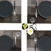 "Chilewich Engineered Squares Placemat 14"" X 19"", Pale"