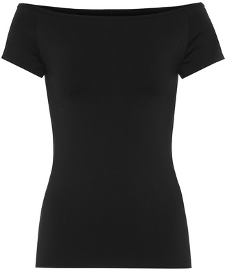 Helmut Lang Off-the-shoulder stretch knit top