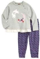 Tea Collection Moon Rabbit Top & Leggings Set (Toddler Girls)