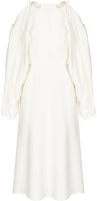 Prada Tie Detail Oversize Sleeves Dress