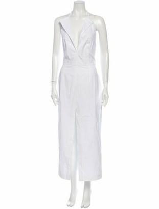 Jacquemus Plunge Neckline Long Dress w/ Tags White