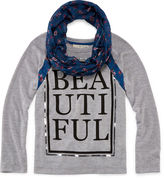 Self Esteem Sweater and Scarf - Girls 7-16 and Plus