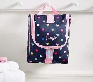 Pottery Barn Kids Mackenzie Navy Pink Multicolor Hearts Toiletry Bag