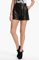 Milly 'Kelsey' Leather Shorts