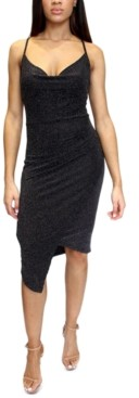 Almost Famous Crave Fame Juniors' Asymmetrical Midi Dress
