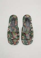 Dries Van Noten green animal wave slide