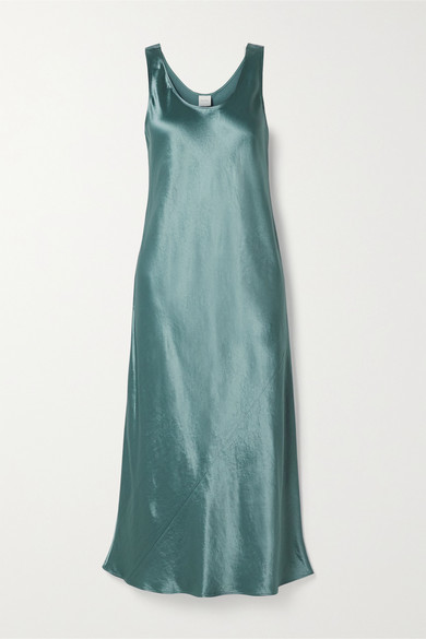 Max Mara Leisure Talete Satin Midi Dress