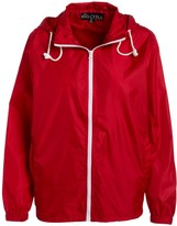 Big Chill Women's Windbreakers and Shell Jackets Red - Red Pack-in-Pocket Ripstop Windbreaker - Women