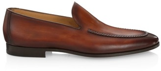 Saks Fifth Avenue COLLECTION BY MAGNANNI Burnished Leather Venetian Loafers