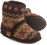 Muk Luks Zigzag Bootie Slippers - Fleece Lined (For Women)