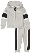 Nike Sueded Fleece Full Zip Hoodie and Jogger Pants Two-Piece Set (Toddler) (Gray Heather) Boy's Active Sets