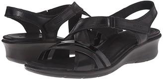 Ecco Felicia Sandal (Black/Black) Women's Sandals