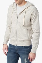 7 For All Mankind Zip Up Raglan Hoodie In Heather Oatmeal