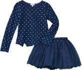 Splendid Girls' 2Pc Indigo T-Shirt & Tutu Skirt Set