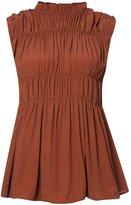 Marni gathered sleeveless blouse
