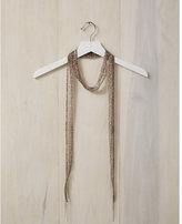 Express chan luu embellished leopard print skinny scarf