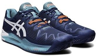 Asics Gel-Resolution 8 Clay (Mako Blue/White) Men's Tennis Shoes