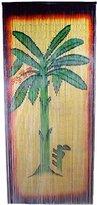 Bamboo Curtain Banana Tree Scene