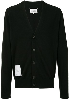 Maison Margiela Patch-Detail Knitted Cardigan