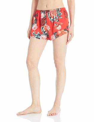 GUESS Women's Satin Floral Cheeky Short
